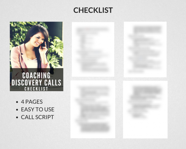Checklist Call Script Coaching Discovery Calls
