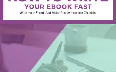 Write Your Ebook Fast And Make Passive Income Checklist