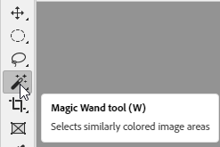 Where Magic Wand Tool Located in Photoshop