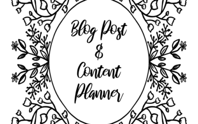 Blog Post & Content Planner Botanical Line Drawing Powerpoint File