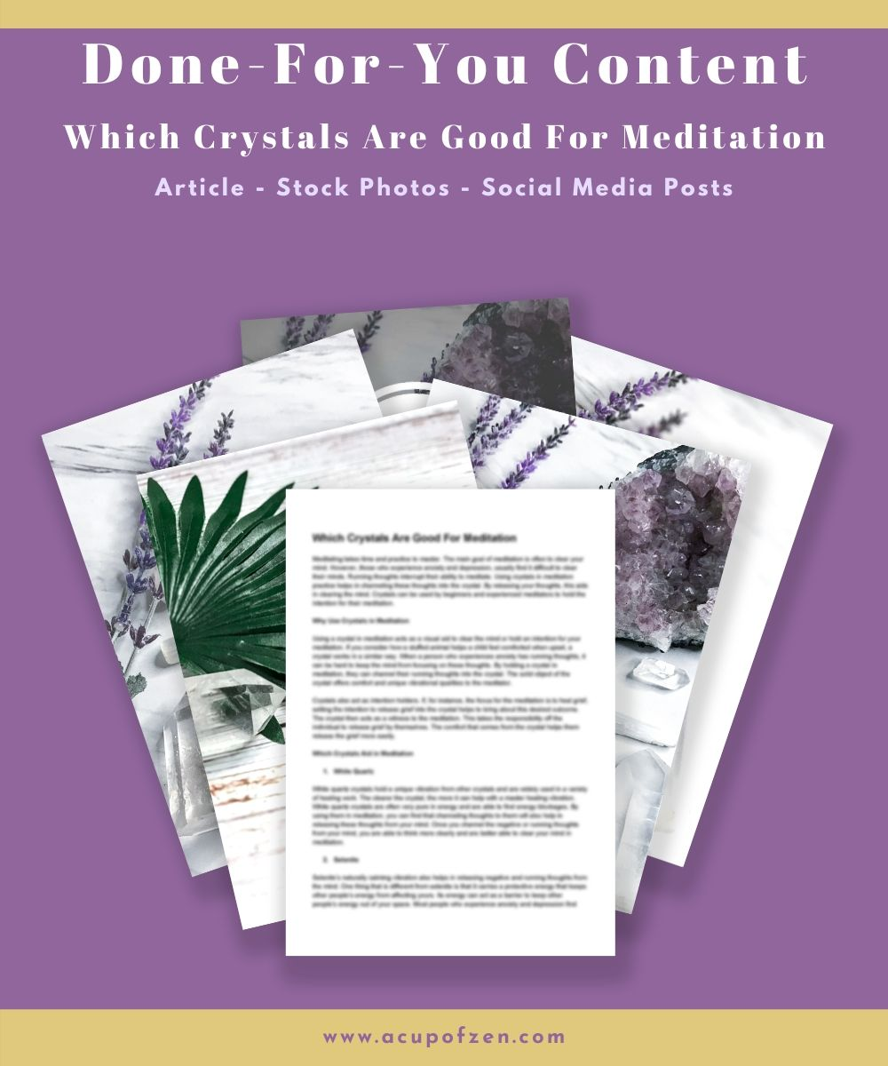 DFY Which Crystals Are Good for Meditation