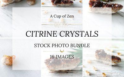 Citrine Crystals Stock Photos