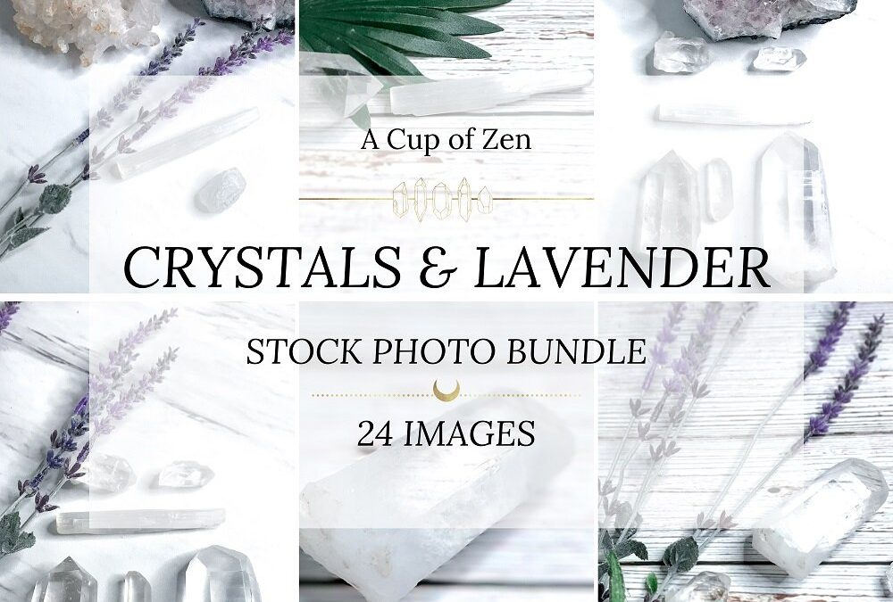 Crystals and Lavender Stock Photos