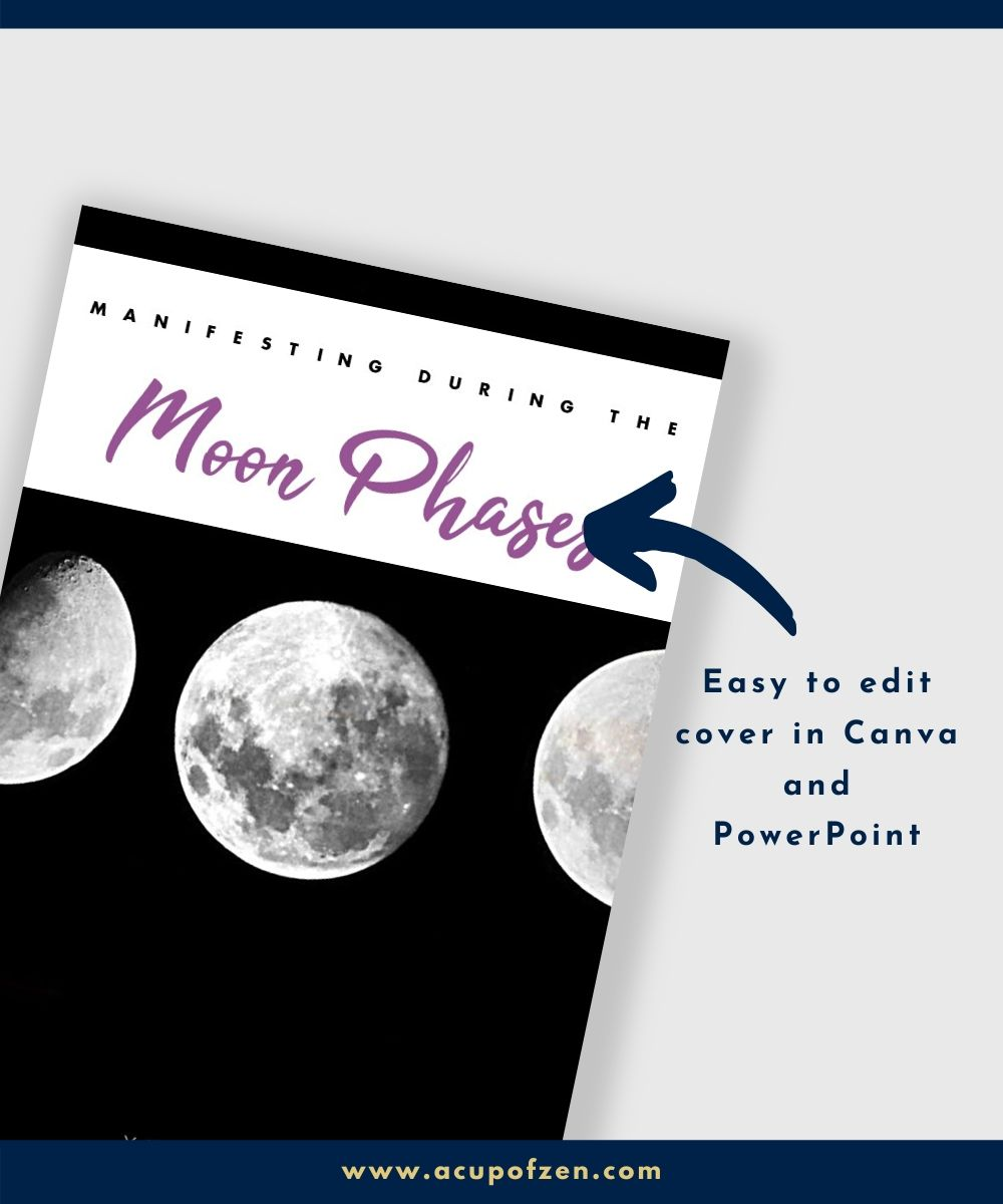 cover ebook template manifesting moon