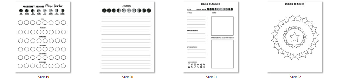 low content moon phases planner commercial use