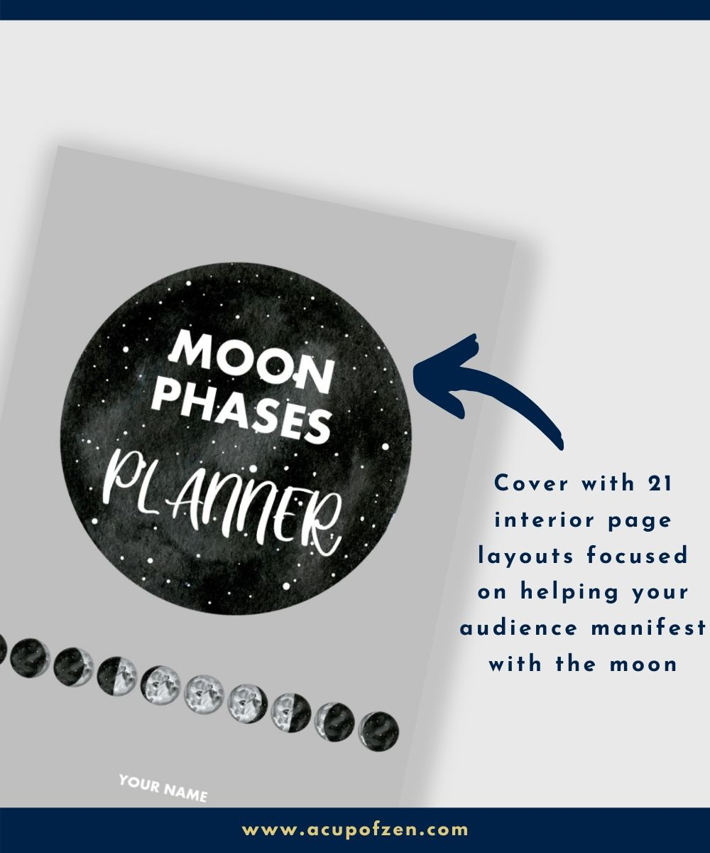 low content planner manifesting with moon