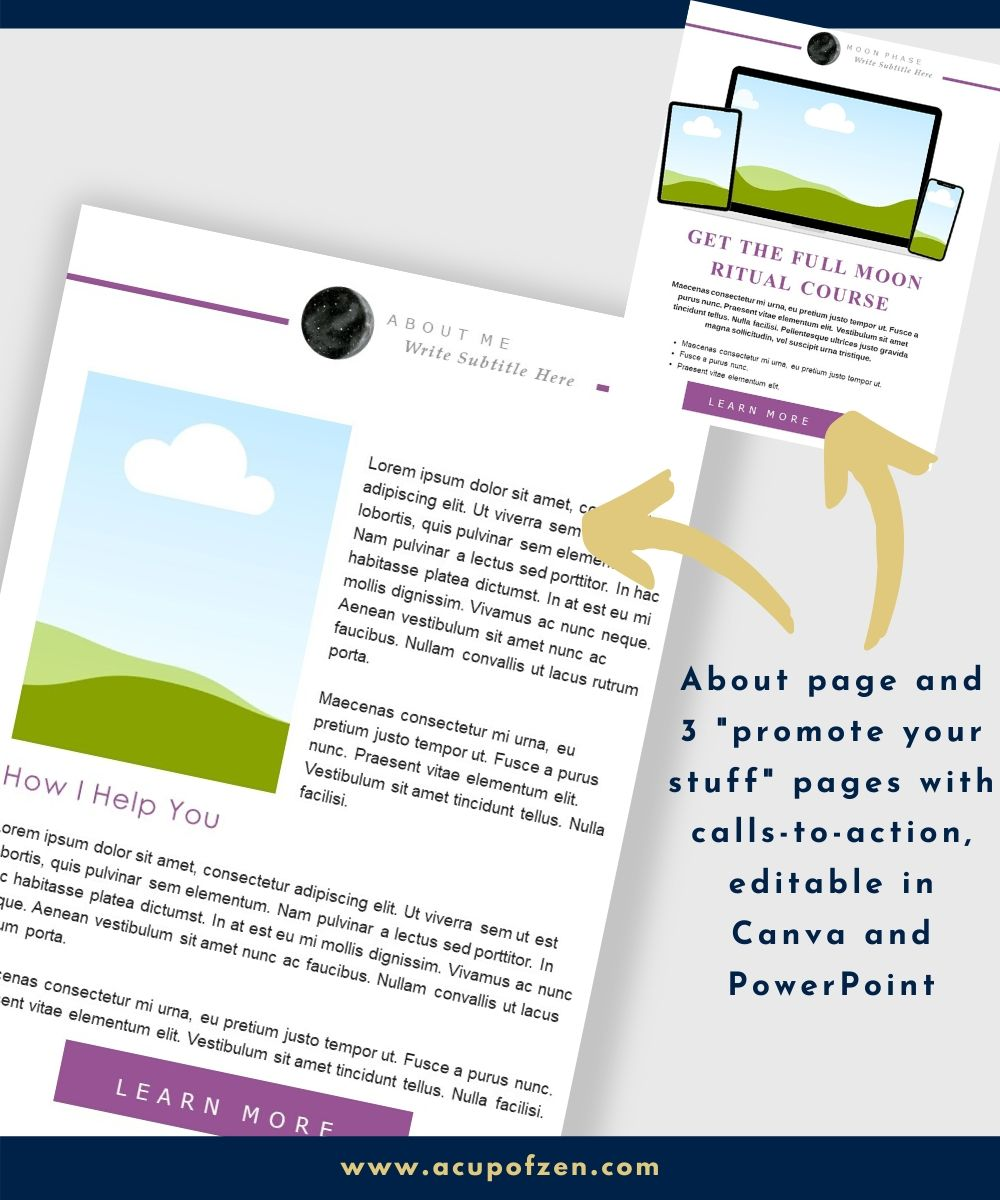 moon manifesting ebook promo template