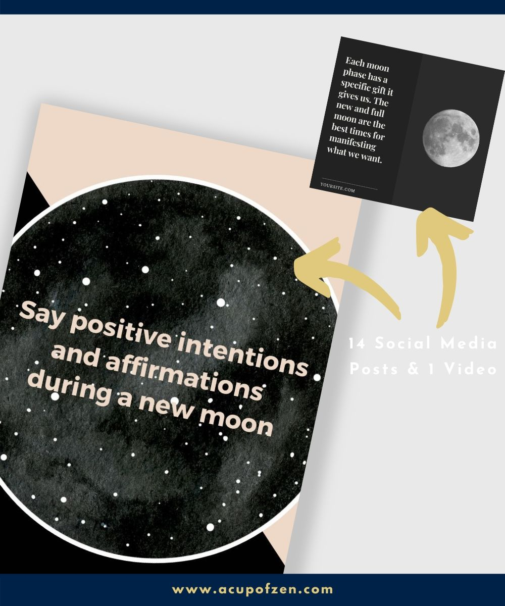 social media templates canva moon phases
