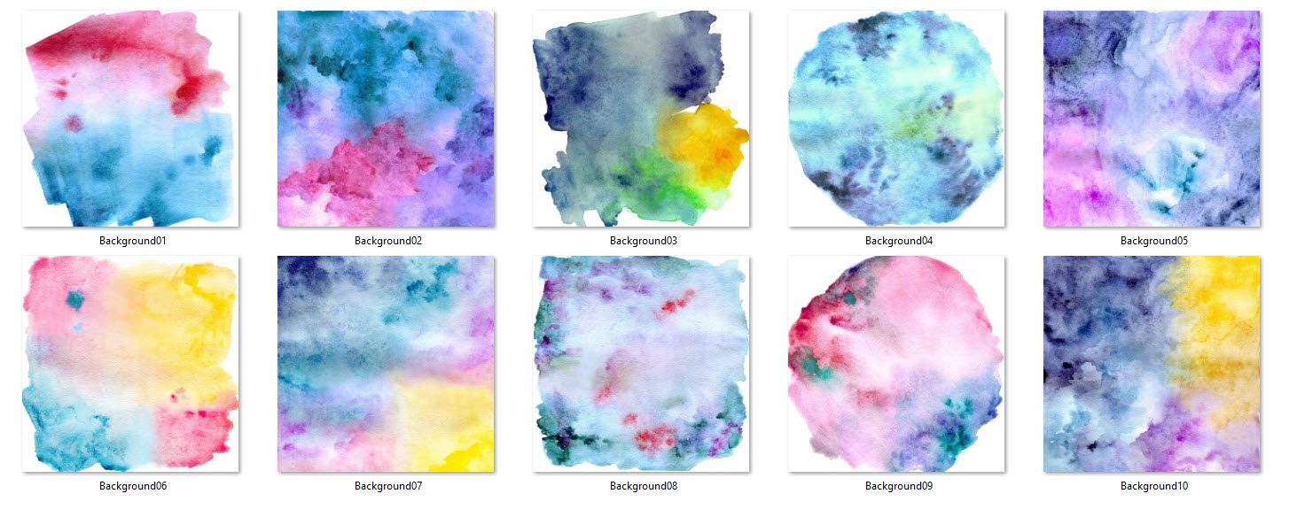 watercolor backgrounds multi colored