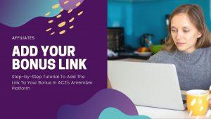 add affiliate bonus link amember
