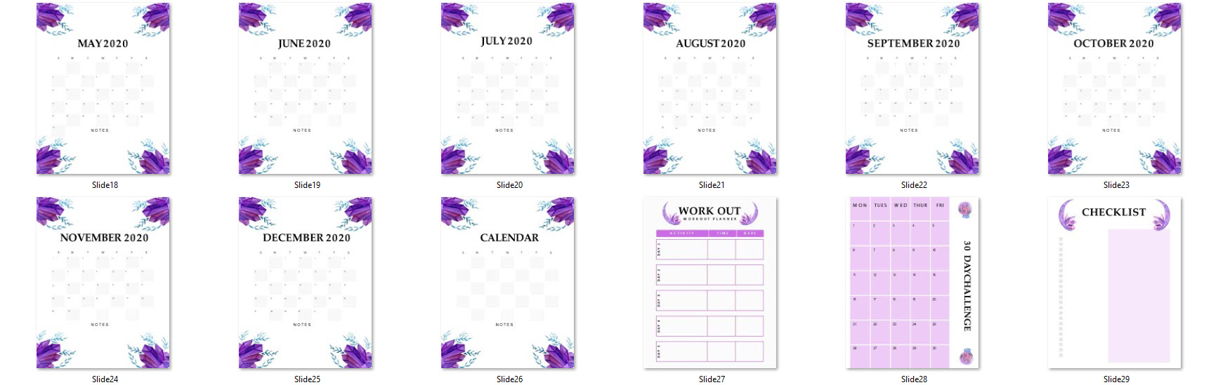 crystal planner weekly daily monthly 2