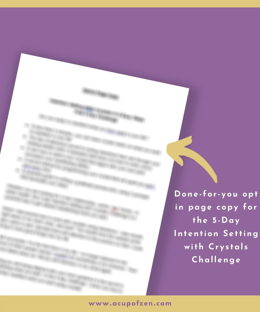 challenge prewritten copywriting content spirituality crystals