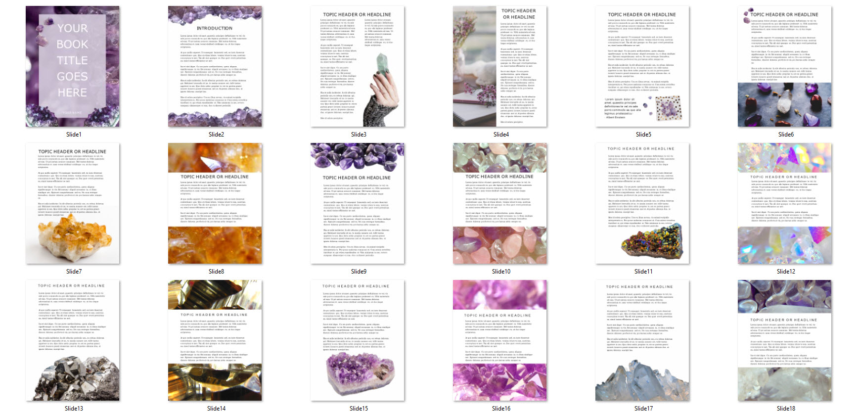 crystal ebook template canva powerpoint