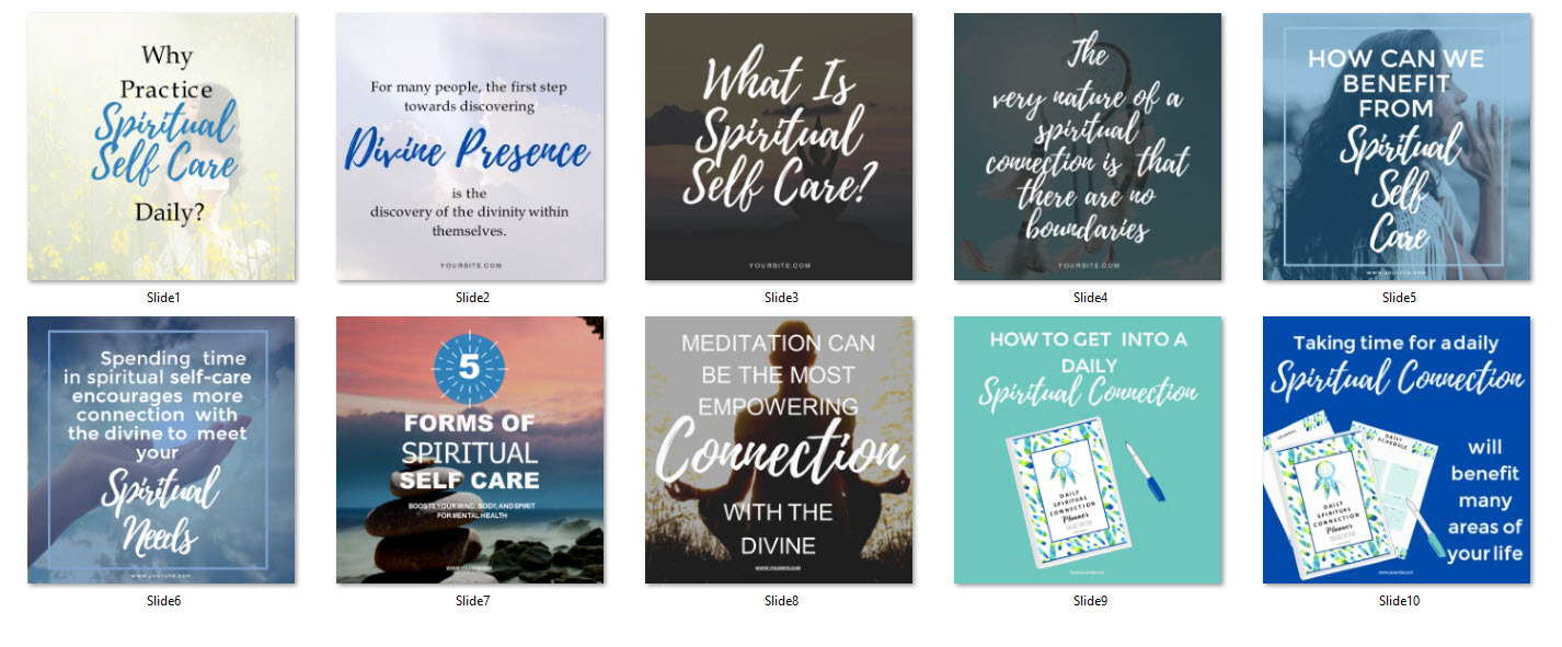 social media spiritual canva powerpoint templates