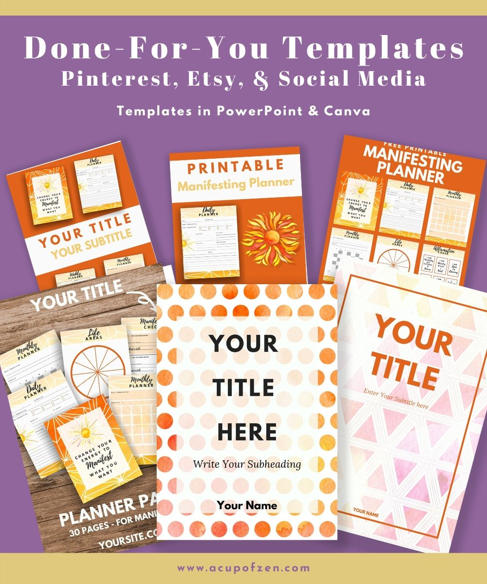 canva pinterest templates printables planners