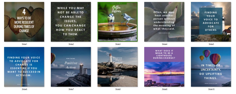 social media canva templates self help