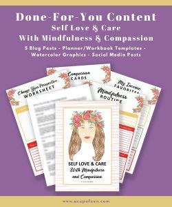 1 Self Love Mindfulness Compassion Prewritten Content Planner