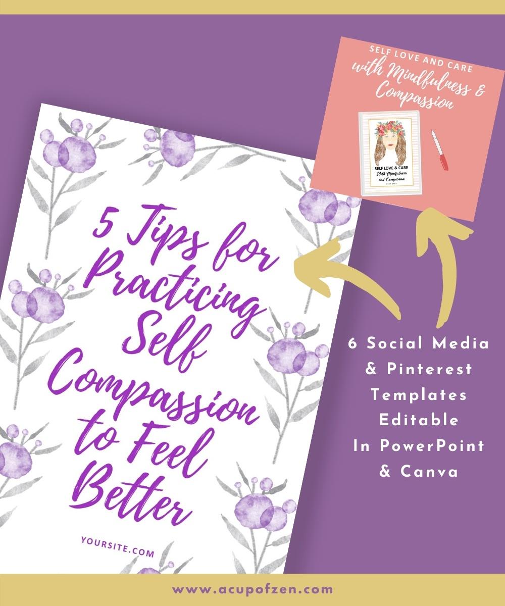 6 Self Love Compassion Social Media Posts Watercolor