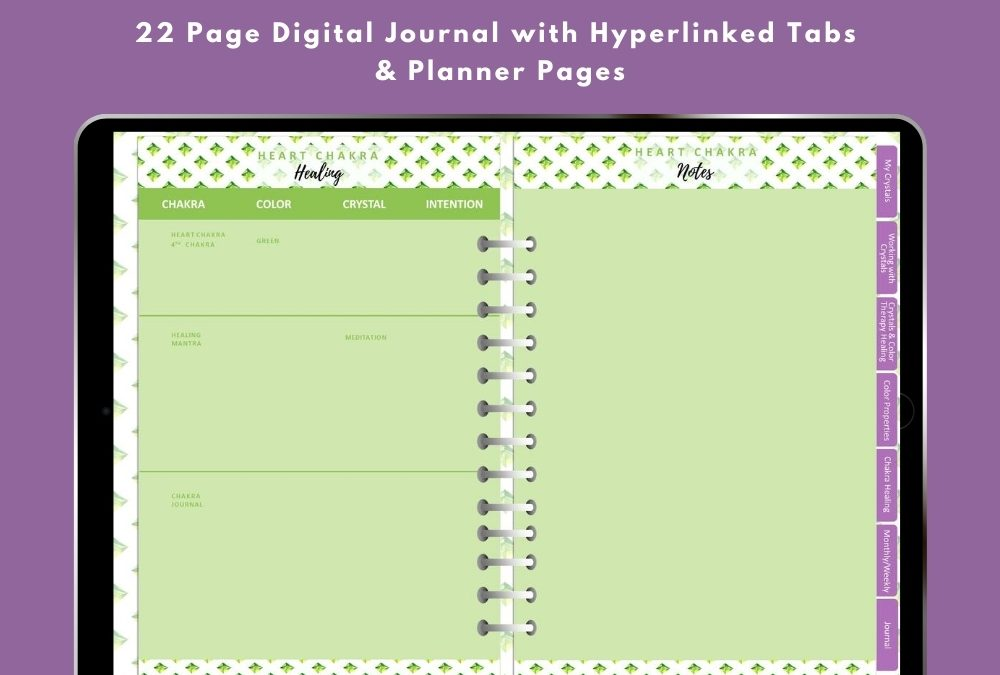 DFY – Healing with Crystals and Color Therapy Digital Planner