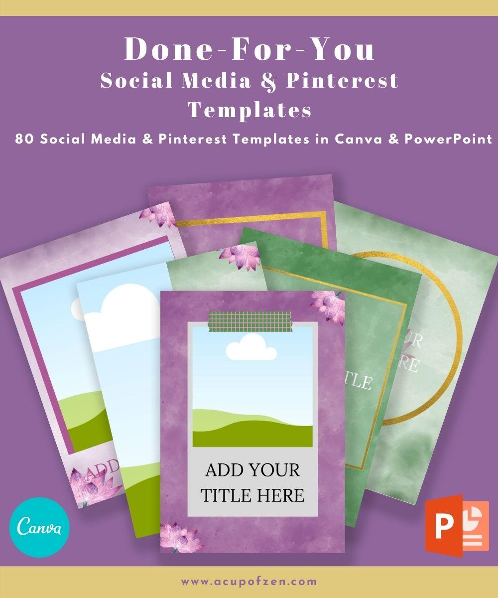 A Cup of Zen Social Media Pinterest Templates