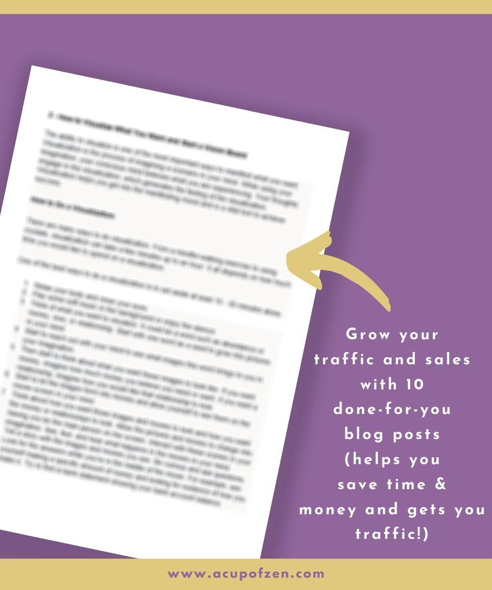 prewritten spiritual content blog posts