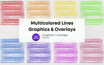 Multicolored Lines Graphics & Overlays