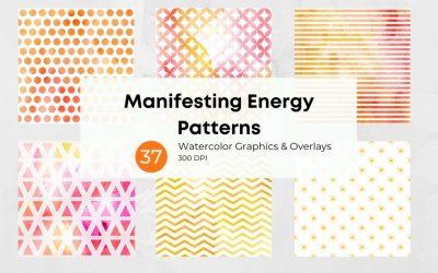 Manifesting Energy Watercolor Patterns