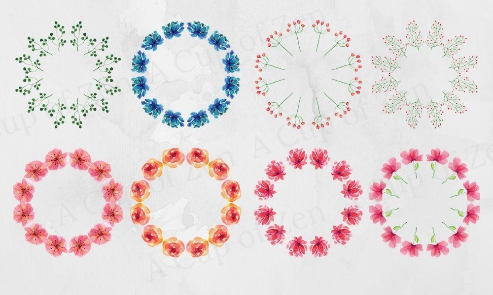 wreaths watercolor graphics clip art