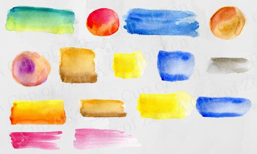 Watercolor brush strokes graphics