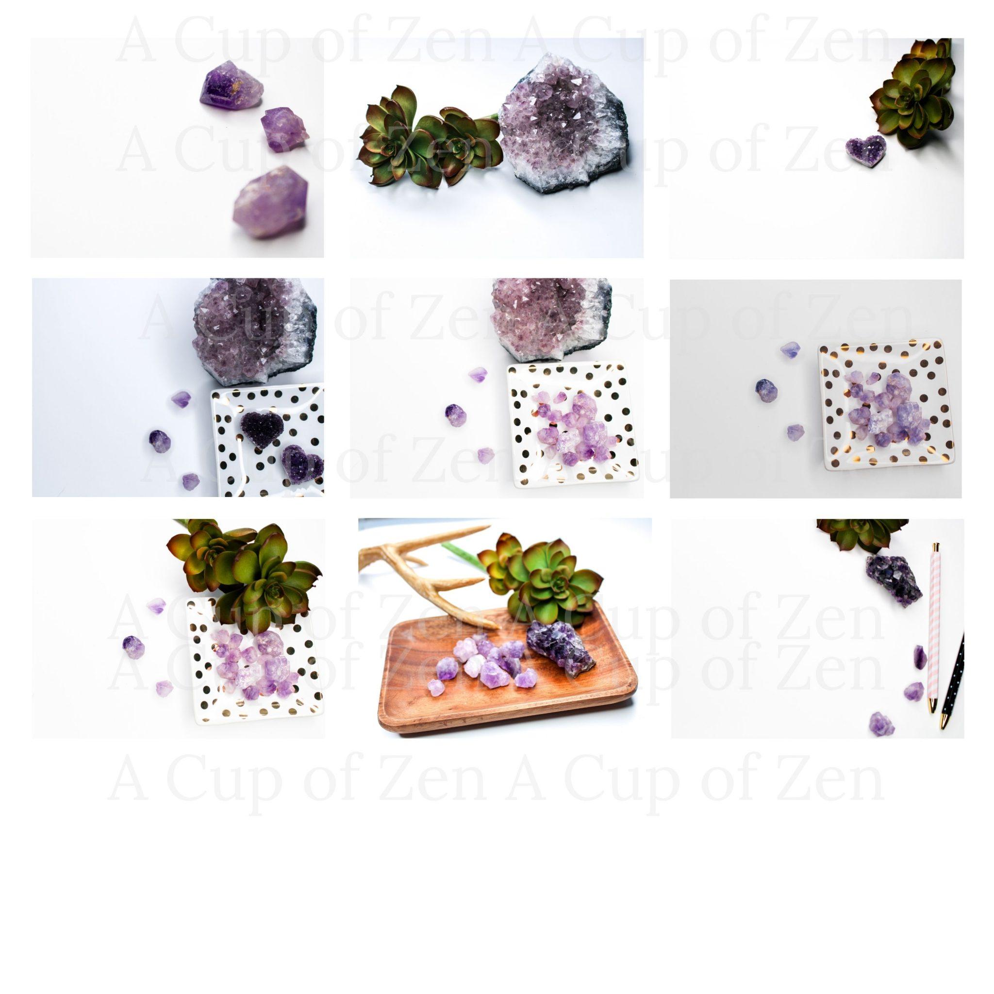 amethyst crystals royalty free photos