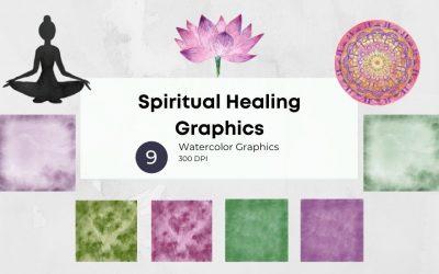 Spiritual Healing Watercolor Graphics