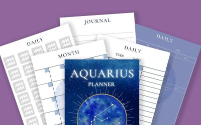 Zodiac Sign Daily, Weekly, Monthly Undated Planners