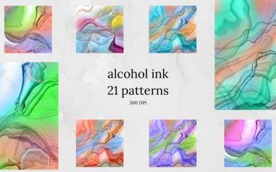 Alcohol Inks Digital Paper