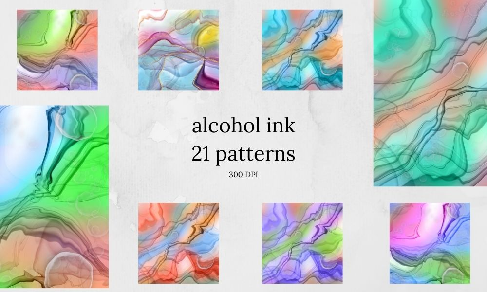 alcohol inks digital papers