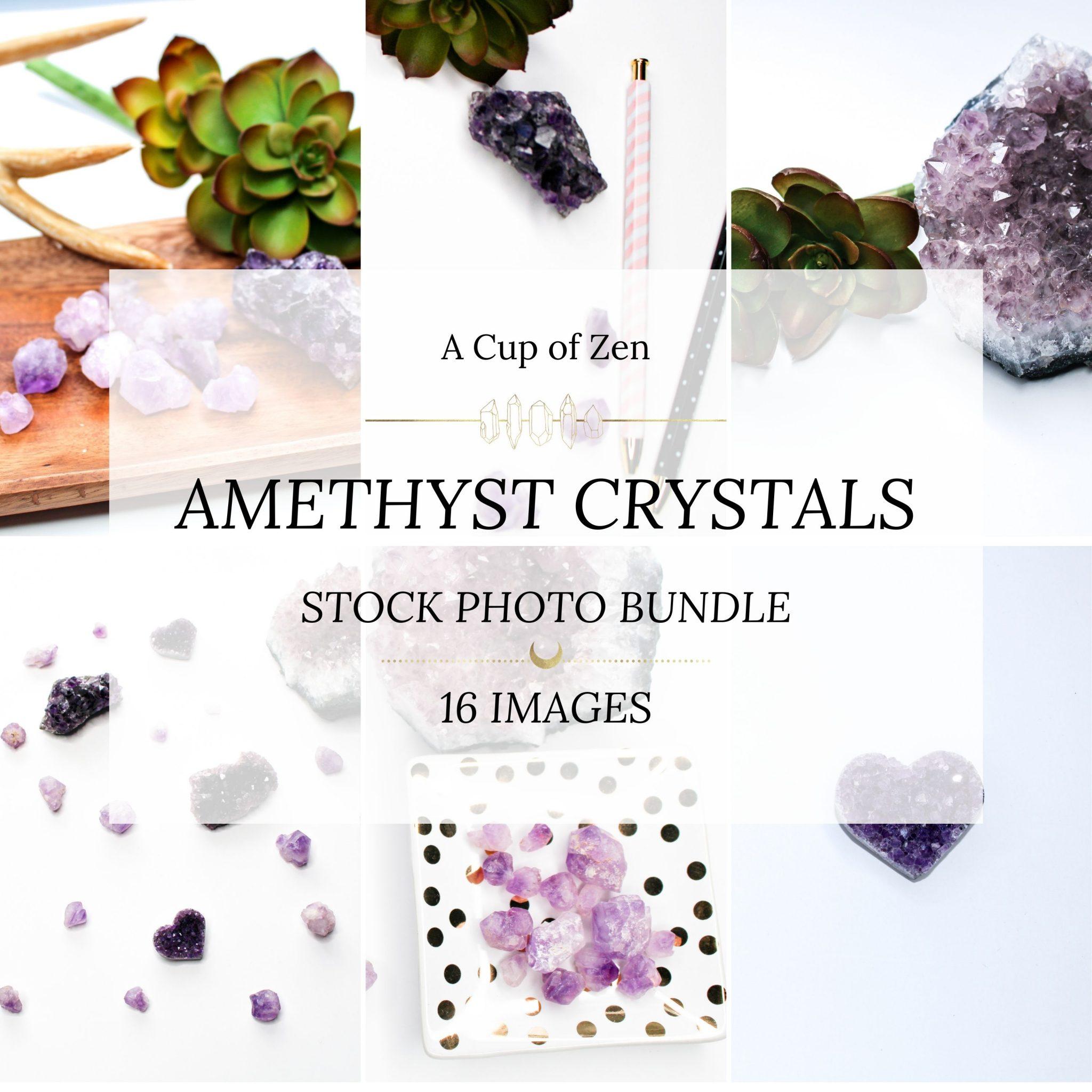 amethyst crystals stock photos