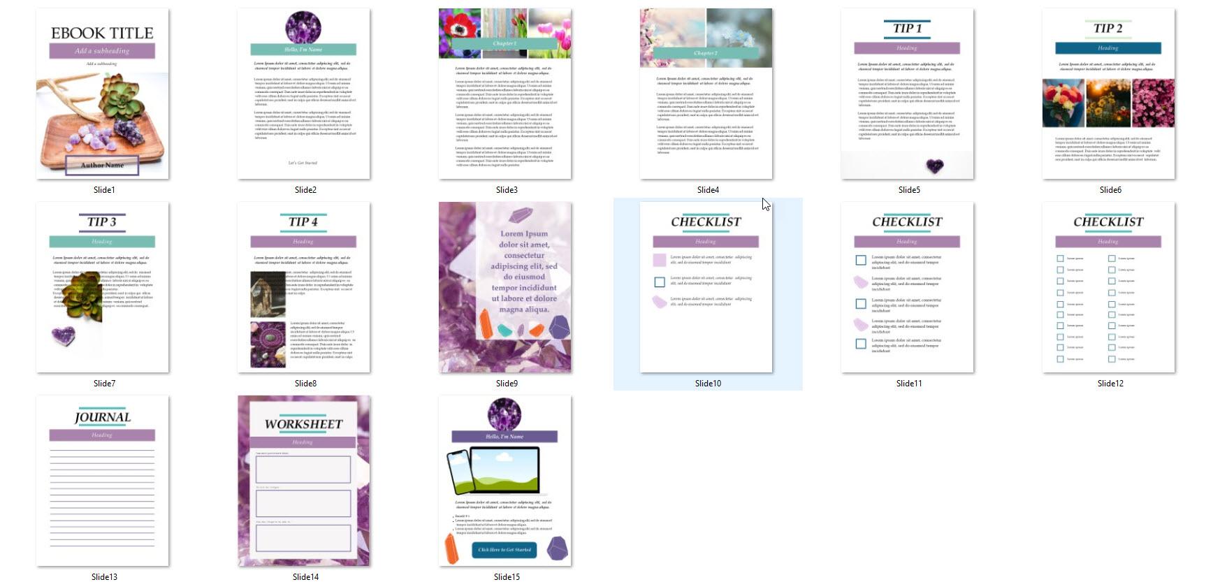 amethyst ebook template canva powerpoint 2