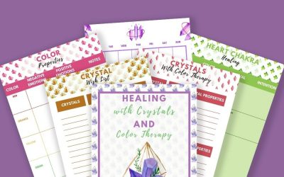 Healing with Crystals and Color Therapy Planner