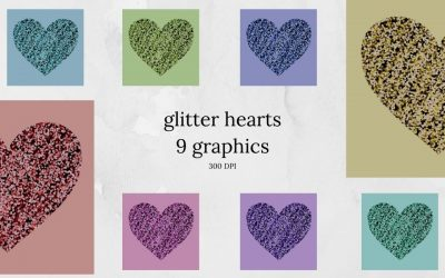 Glitter Hearts Graphics
