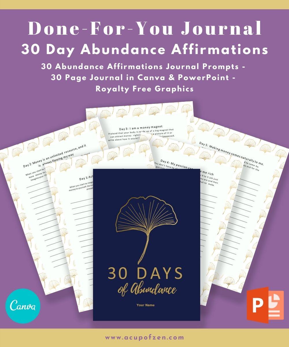 30 day abundance affirmation journal