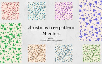 Christmas Tree Pattern Digital Papers & Gifs