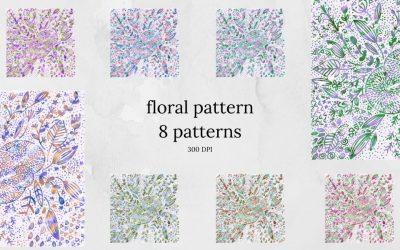 Floral Pattern Digital Paper