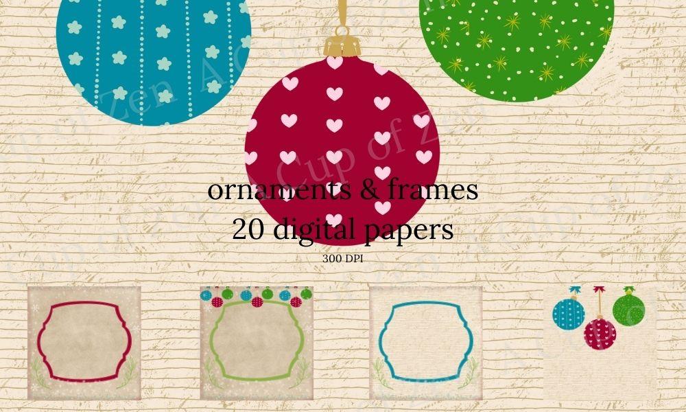 Ornament & Frames Digital Papers