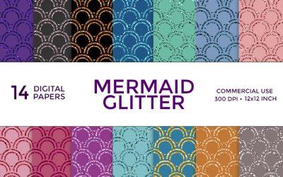 Mermaid Glitter Digital Paper