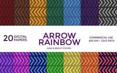 Arrow Rainbow Digital Paper