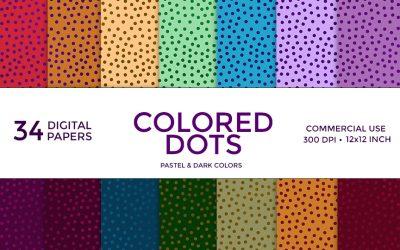 Colored Dots Digital Paper