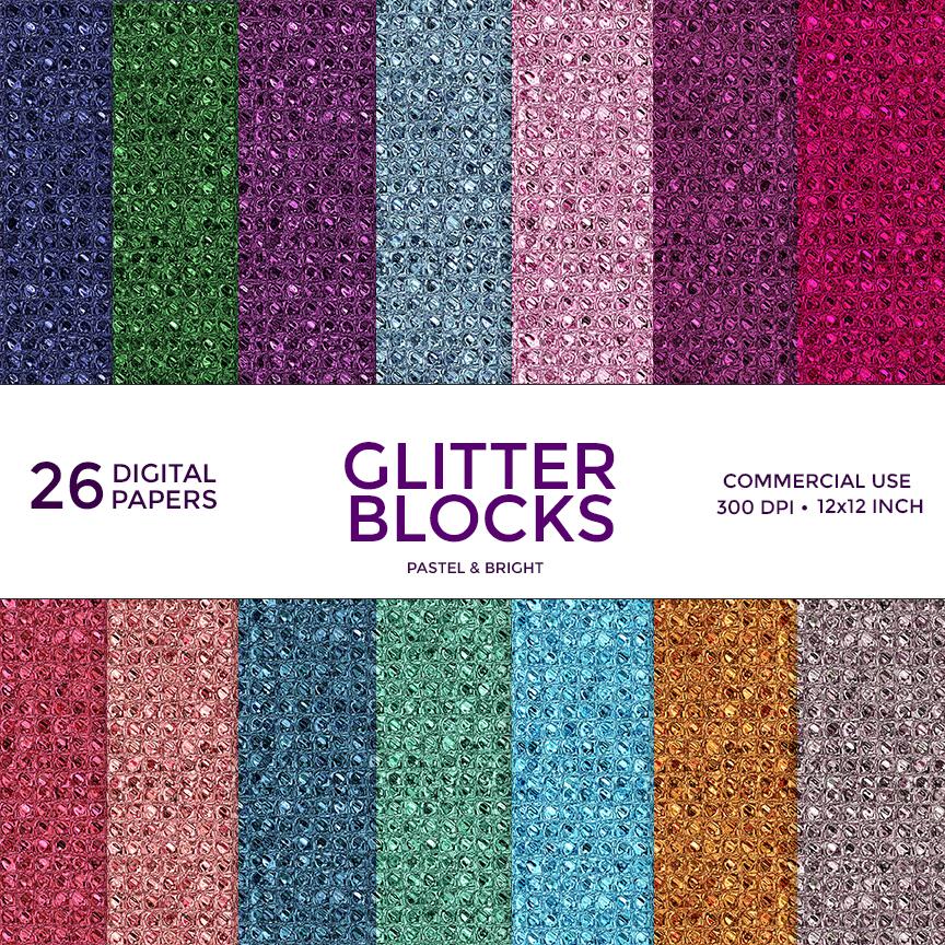 unicorn glitter stickers digital