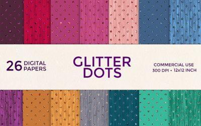 Glitter Dots Digital Paper