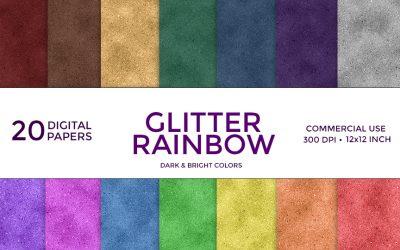 Glitter Rainbow Digital Paper