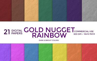 Gold Nugget Rainbow Digital Paper