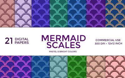 Mermaid Scales Digital Paper